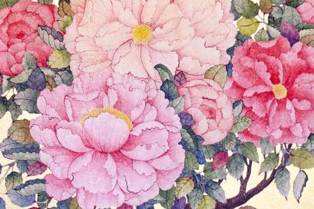 Beautiful Roses flowers, Watercolor painting Stok Fotoğraf - 85904471