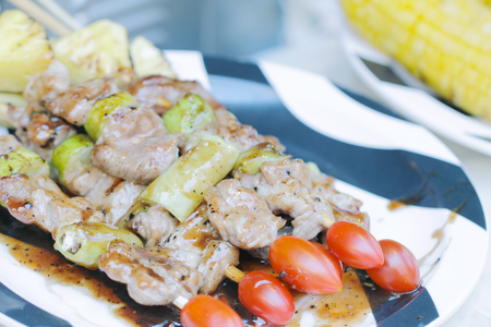 Homemade Chicken Shish Kabobs with Peppers and Onions