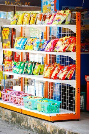 BANKOK, THAILAND - JANURARY 20TH, 2018. Mini Shop in YANNAWA shopping street.