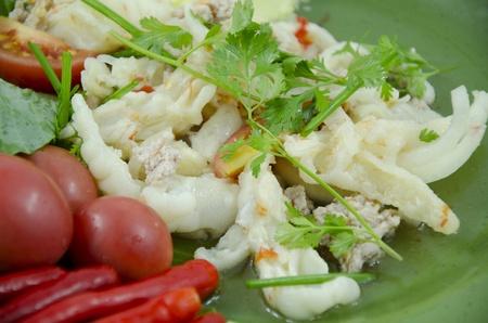 Thai dressed spicy salad. photo