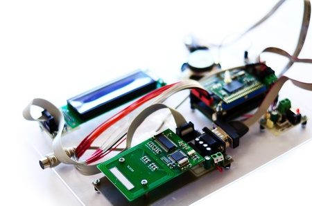 Radio-frequency identification  RFID  reader kit Stockfoto