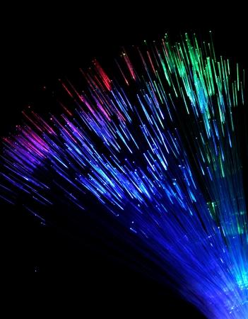 fibre optique: Colorful de la fibre optique