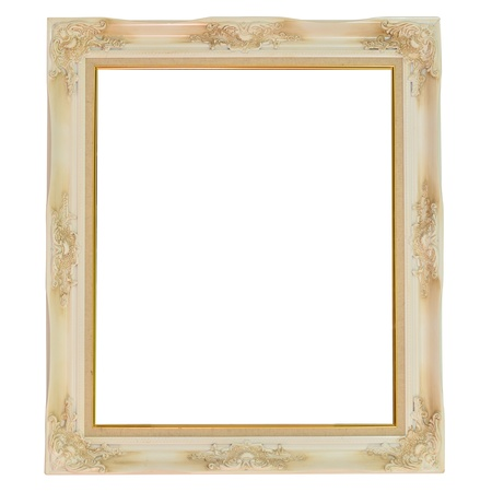 Old antique frame over white background Stock Photo - 13720145