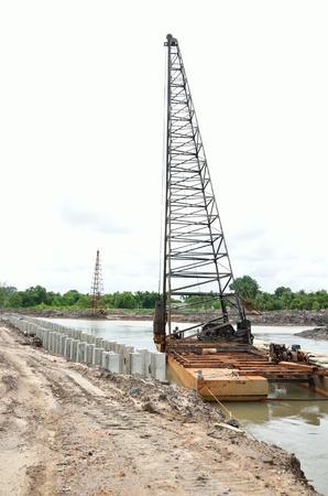 under construction of waterline