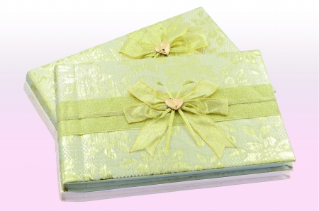 Register book of wedding on the pink table Stock Photo - 14168022