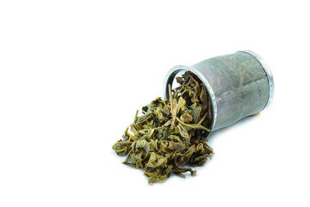 Used Tea trash on White Background  photo