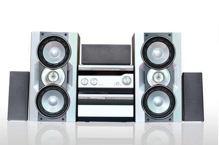 musica electronica: Audio Hi-Fi sistema de sonido Foto de archivo