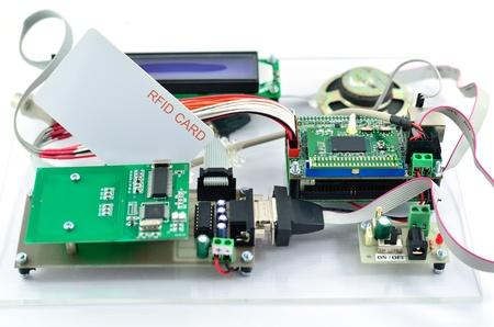 hf: Radio-frequency identification  RFID  reader kit Stock Photo