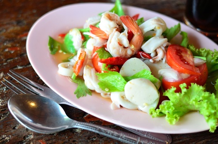 chinese meal: Seafood salad