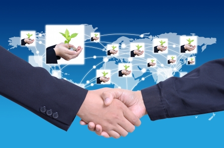 success of business with social network photo