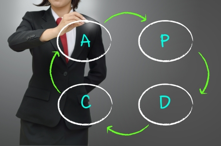 lifecycle: Plan, Do,Check,Action or Deming Cycle  Shewhart Cycle