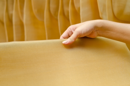 Para rubber  natural rubber  sheet with hand photo