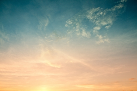 Colorful of sunset sky for web design and wallpaper background photo