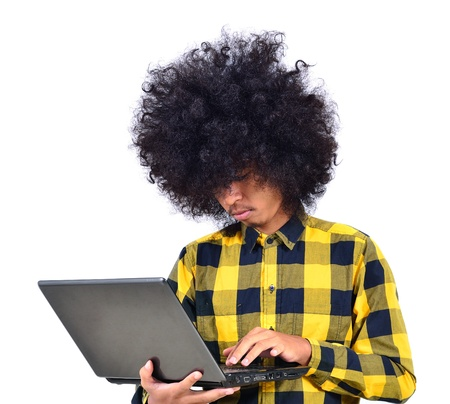 Asian student with notebook