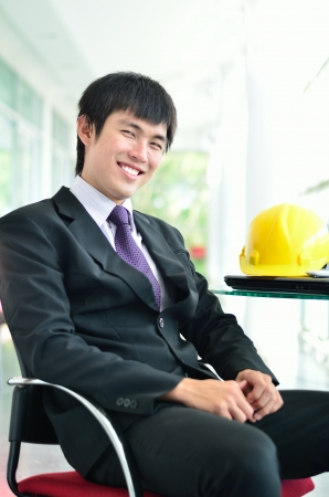 Engineer in success face Stock Photo - 16516689