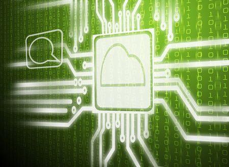 abstract green cloud computing