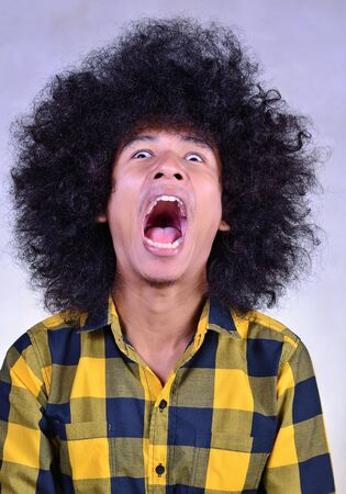 crazy hair: Face of emotion funny man series