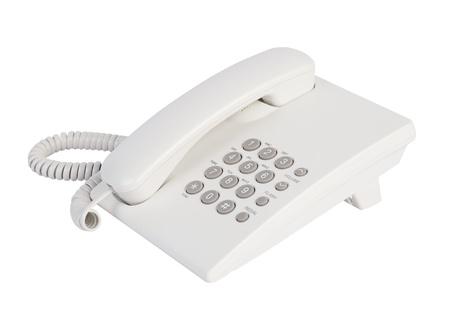 White office telephone isolated
