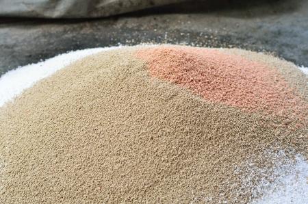 urea: Pile of plant chemical fertilizer Stock Photo