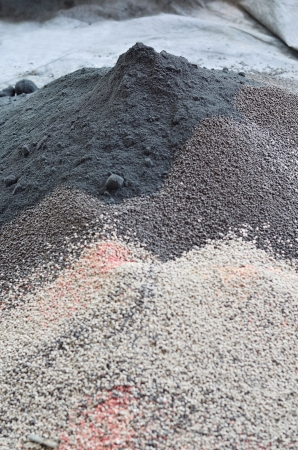 Pile of plant chemical fertilizer photo