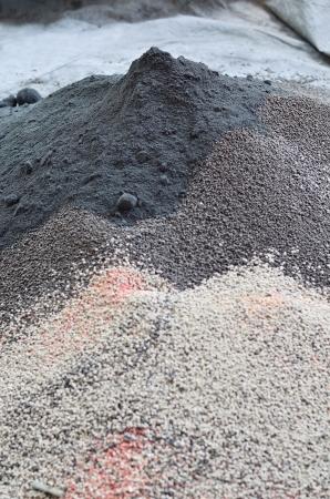 Pile of plant chemical fertilizer Stockfoto
