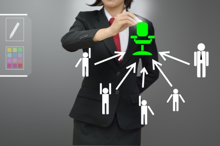 Business woman selected person talented 版權商用圖片