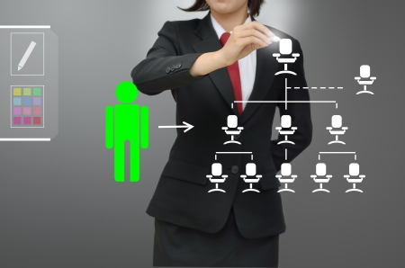 selected: Business woman selected person talented Stock Photo