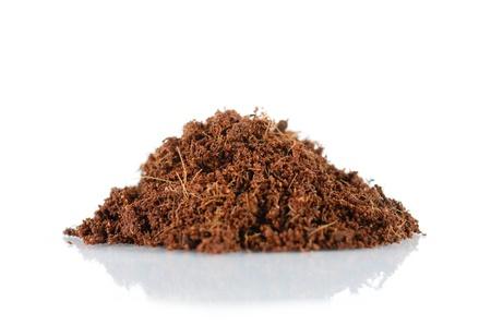 coconut husk fiber organic fertilizer isolated