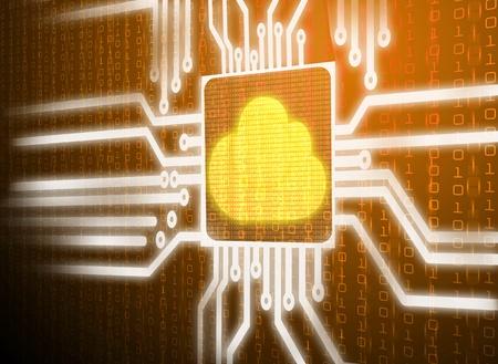 3d lcd screen matrix circuit of cloud symbol photo