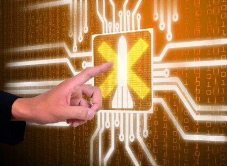 3d lcd screen matrix circuit of war symbol