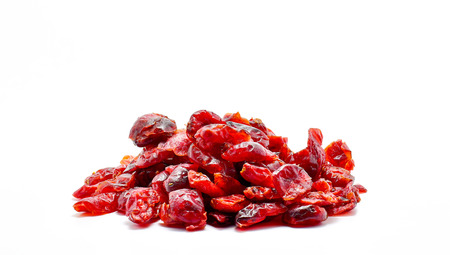 cranberry dried fruit isolate on white background Stockfoto