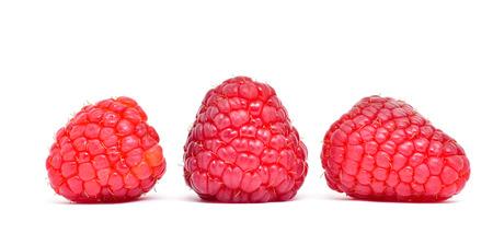 raspberry fruit isolate on white background Stockfoto