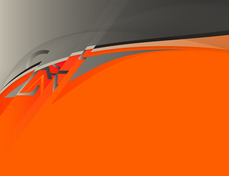 background in grey and orange colors Vector