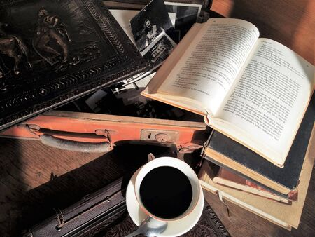 good mood: Relaxation and comfort with good books and good coffee. Good mood