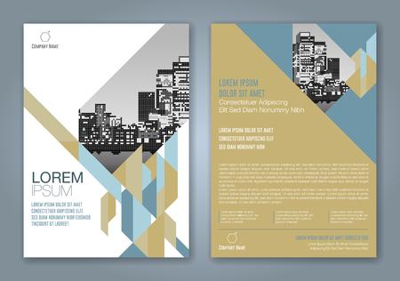 résumé minimal géométriques façonne conception de fond de conception pour le magazine annuel couverture de couverture de magazine d & # 39 ; affaires couverture de magazine