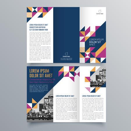 Creative tri-fold  brochure design Иллюстрация