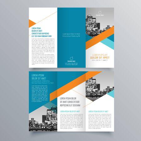 Creative tri-fold  brochure design  イラスト・ベクター素材