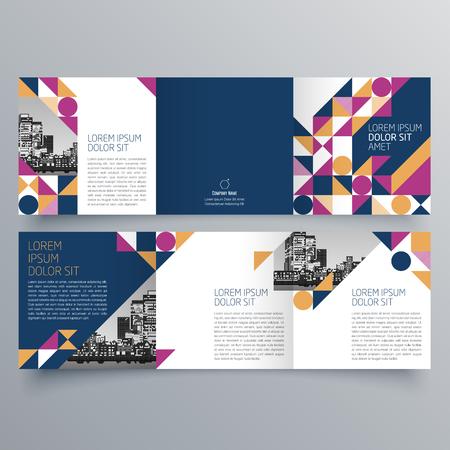 creative tri fold brochure design royalty free cliparts vectors