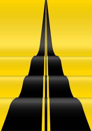 무한대로 슬로프의 추상 그림입니다. 벡터 디자인 검정색과 노란색 배경 스톡 콘텐츠 - 89091713
