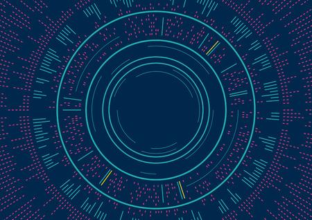 Un disegno astratto dei cerchi di sfondo con l & # 39 ; illustrazione di concetto di onda sonora