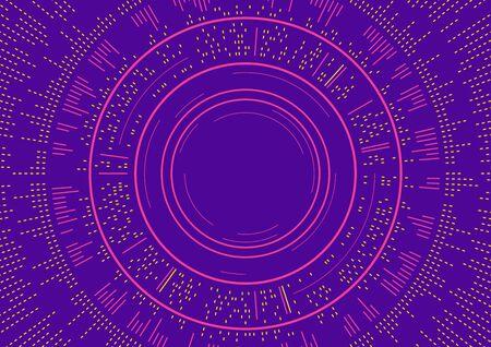 Diseño abstracto púrpura del fondo de los círculos con concepto de la onda acústica Foto de archivo - 89092518