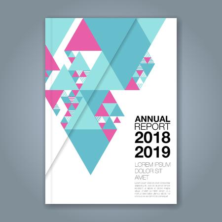 Abstracte minimale geometrische vormen veelhoek ontwerp achtergrond voor zakelijke jaarverslag boekomslag brochure flyer poster Vector Illustratie