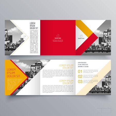 Brochure design, brochure template, creative tri-fold, trend brochure Vector Illustratie