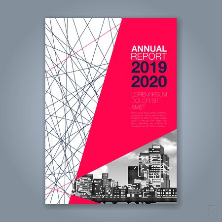 Abstract minimal geometric line background for business annual report book cover brochure flyer poster Иллюстрация