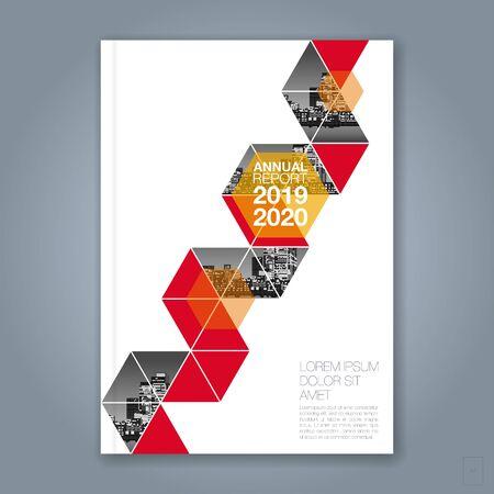 Streszczenie minimalne geometryczne tło wielokąta dla biznesowego raportu rocznego książki okładka broszura ulotka plakat Ilustracje wektorowe
