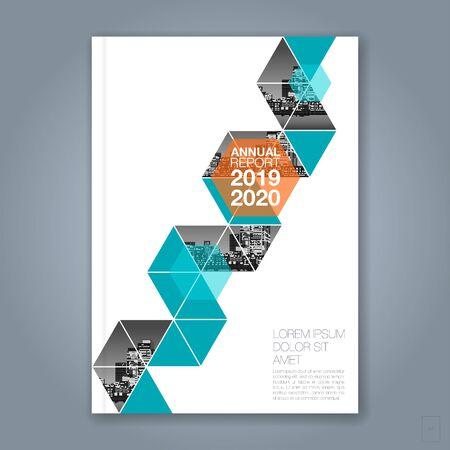 Abstract minimal geometric polygon background for business annual report book cover brochure flyer poster