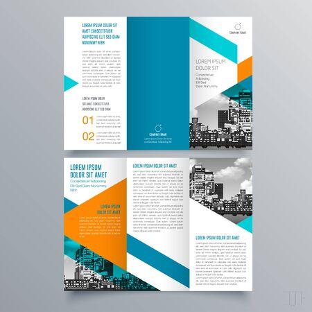 Projekt broszury, szablon broszury, kreatywne składanie trójdzielne, broszura o trendach