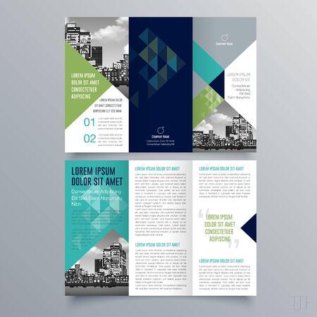 Conception de brochure, modèle de brochure, brochure créative à trois volets, tendance