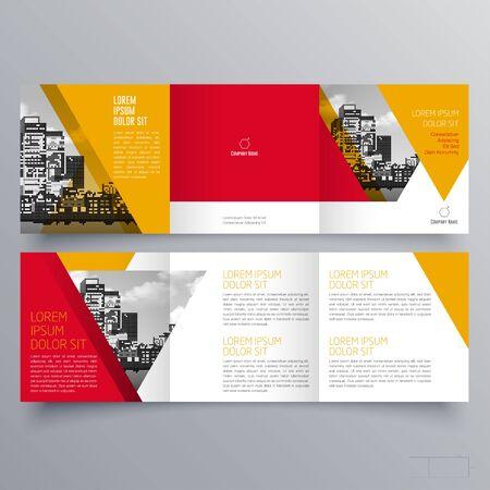 Brochure design, brochure template, creative tri-fold, trend brochure