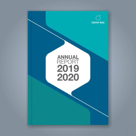Abstract minimal geometric circle background for business annual report book cover brochure flyer poster Ilustração Vetorial